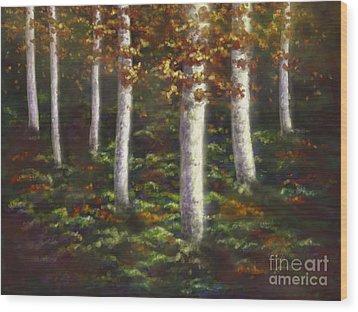 Autumn Ghosts Wood Print