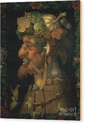 Autumn Wood Print by Giuseppe Arcimboldo