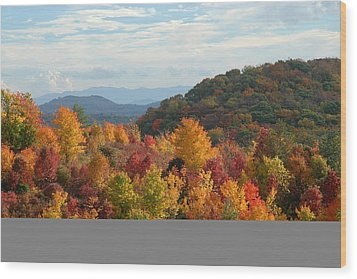 Autumn Glory Wood Print by Alan Lenk