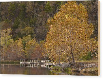 Wood Print featuring the photograph Autumn Glory In Beaver's Bend by Tamyra Ayles