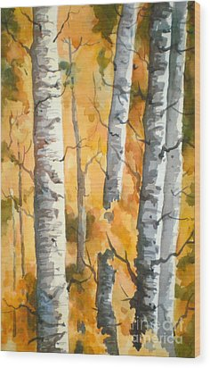 Autumn Glory Wood Print by Pat Crowther