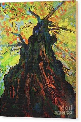 Autumn Glow Wood Print by Allison Coelho Picone