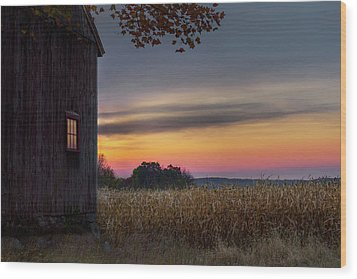 Wood Print featuring the photograph Autumn Glow by Bill Wakeley