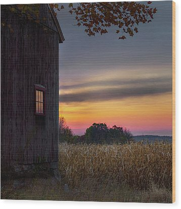 Wood Print featuring the photograph Autumn Glow Square by Bill Wakeley