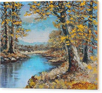 Autumn Gold Wood Print by Karon Melillo DeVega
