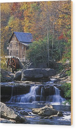 Autumn Grist Mill - Fs000141 Wood Print
