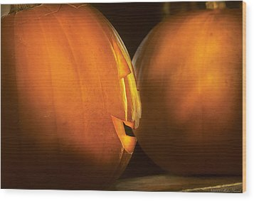 Autumn - Halloween -  Smile If Your Happy Wood Print by Mike Savad
