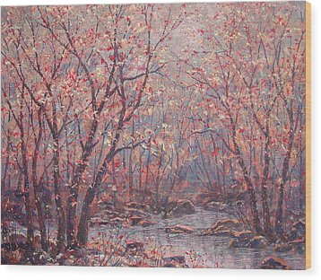 Autumn Harmony. Wood Print