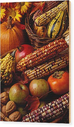 Autumn Harvest  Wood Print by Garry Gay
