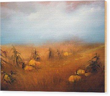 Autumn Harvest Wood Print by Sally Seago