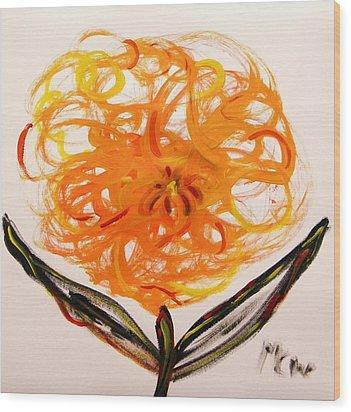 Autumn Hope Flower Wood Print by Mary Carol Williams