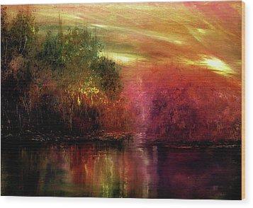 Autumn Hues Wood Print by Ann Marie Bone