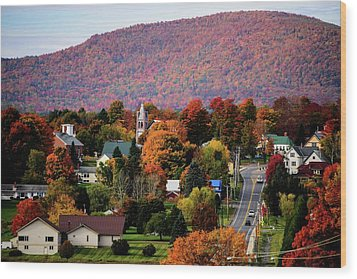 Autumn In Danville Vermont Wood Print
