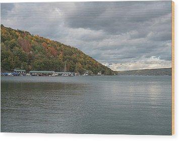 Wood Print featuring the photograph Autumn In Hammondsport by Joshua House