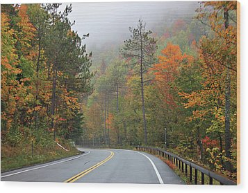 Autumn In Keene Valley Wood Print