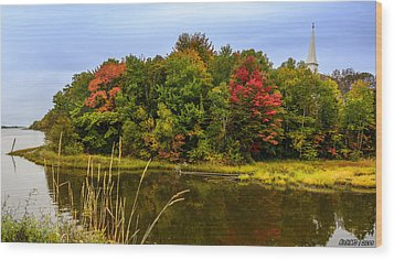 Autumn In Mabou Wood Print