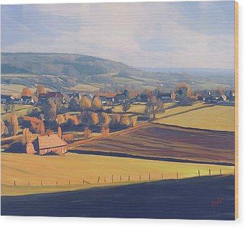 Autumn In Mechelen Wood Print by Nop Briex