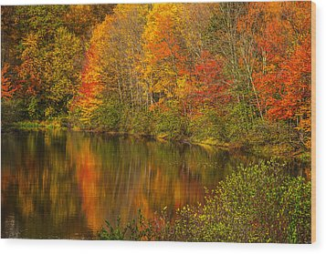 Autumn In Monroe Wood Print