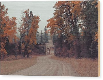 Autumn In Montana Wood Print by Cathy Anderson