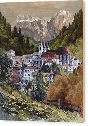 Autumn In The Alps Wood Print