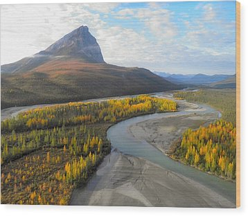 Wood Print featuring the photograph Autumn In The Koyukuk River Valley by Adam Owen