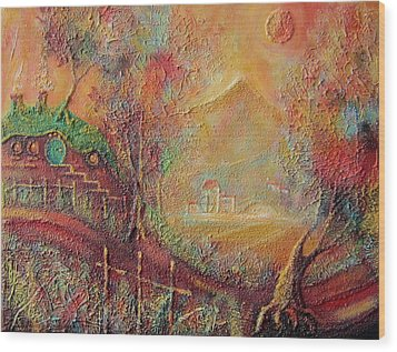 Autumn In The Shire Bag End Wood Print by Joe  Gilronan