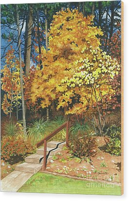 Autumn Invitation Wood Print by Barbara Jewell