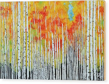 Autumn Wood Print by Jackie Carpenter