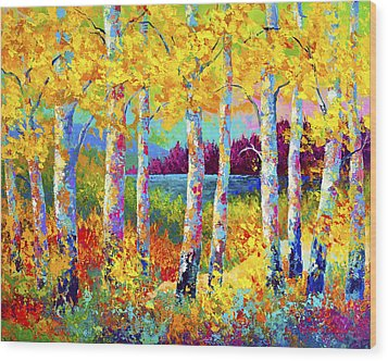 Autumn Jewels Wood Print by Marion Rose