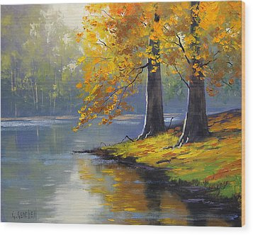 Autumn Lake Print Wood Print by Graham Gercken