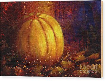 Autumn Landscape Painting Wood Print