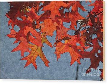 Autumn Leaves 19 Wood Print by Jean Bernard Roussilhe