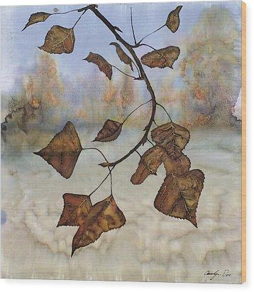 Autumn Leaves Wood Print by Carolyn Doe