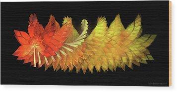 Autumn Leaves - Composition 2.2 Wood Print