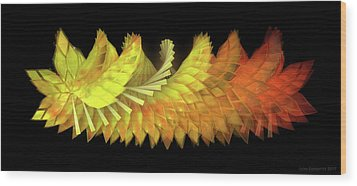 Autumn Leaves - Composition 2.3 Wood Print