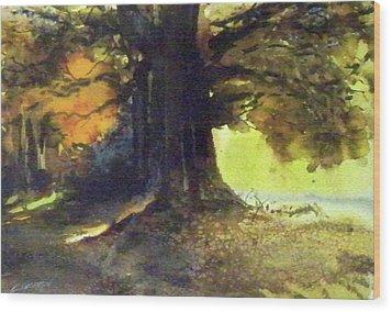 S'il Vou Plait Wood Print by Ed Heaton