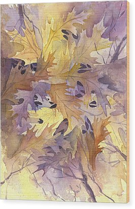 Autumn Leaves Wood Print by Gladys Folkers
