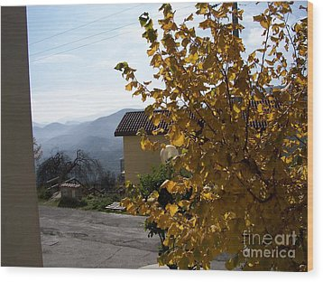 Autumn Leaves Wood Print by Judy Kirouac