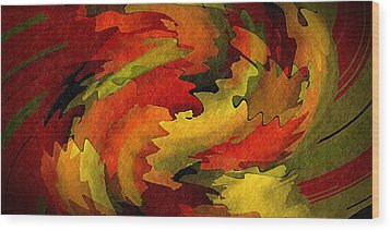 Autumn Leaves Wood Print by Terry Mulligan
