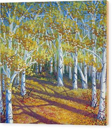 Autumn Light Wood Print by Sharon Marcella Marston
