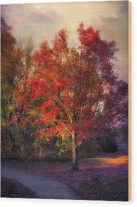 Autumn Maple Wood Print by Jessica Jenney