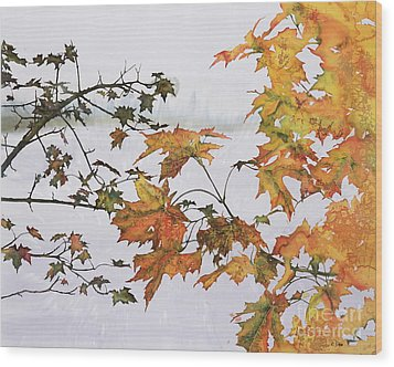 Autumn Maples Wood Print by Carolyn Doe