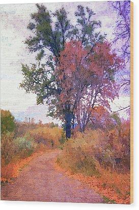 Autumn Melancholy Wood Print