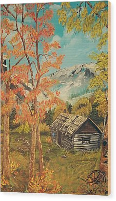 Autumn Memories Wood Print by Sharon Duguay