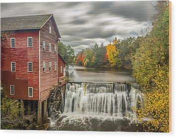 Autumn Mill Wood Print by Mark Goodman