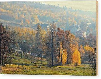 Autumn Morning Wood Print by Henryk Gorecki