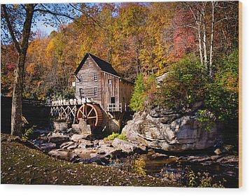Autumn Morning In West Virginia Wood Print by Jeanne Sheridan