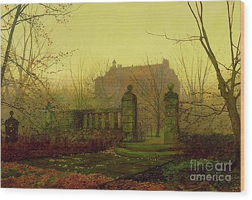 Autumn Morning Wood Print by John Atkinson Grimshaw