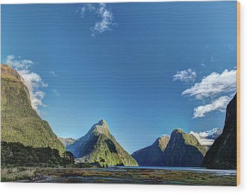 Wood Print featuring the photograph Autumn Morning Milford Sound by Gary Eason