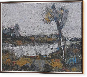 Wood Print featuring the painting Autumn Morning by Pemaro